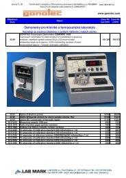 Ceník produktů Gonotec (455,8 kB; formát PDF) - LAB MARK
