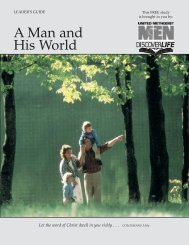 A Man and His World Bible Study - United Methodist Men