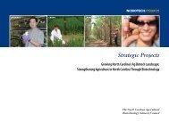 2013 Strategic Projects Booklet - North Carolina Biotechnology Center