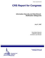 Information Security and Data Breach Notification Safeguards