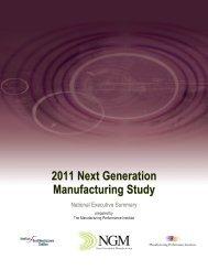 Next Generation Manufacturing (NGM) Study - NIST