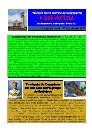27 de Julho - Paróquia Nossa Senhora do... - Diocese de Erexim