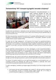 Opsummering af workshoppen - Transportens Innovationsnetværk