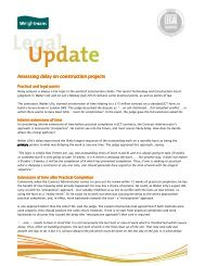Assessing delay on construction projects Assessing delay on ...