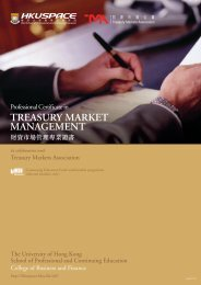 treasury market management - HKU School of Professional and ...