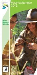 Veranstaltungskalender 2013 - Nationalpark Eifel