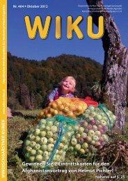 Gewinnen Sie 2 Eintrittskarten für den ... - wiku-online.at