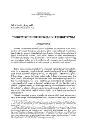 Teoretyczne modele ewolucji prebiotycznej - Filozofia i Nauka