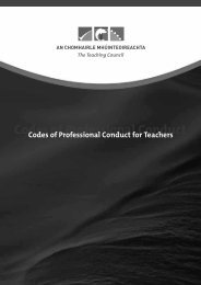 Teaching Council Codes of Professional Conduct for Teachers - TUI