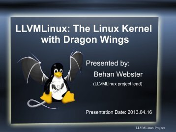 View Slides - The Linux Foundation