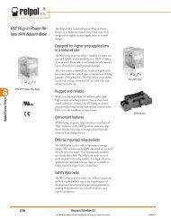 Relpol RY2 Slim Square Base Plug-in power relays for ... - E-Catalog