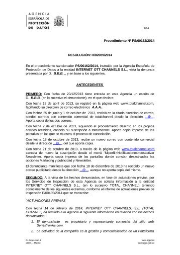 PS-00162-2014_Resolucion-de-fecha-25-09-2014_Art-ii-culo-21-LSSI