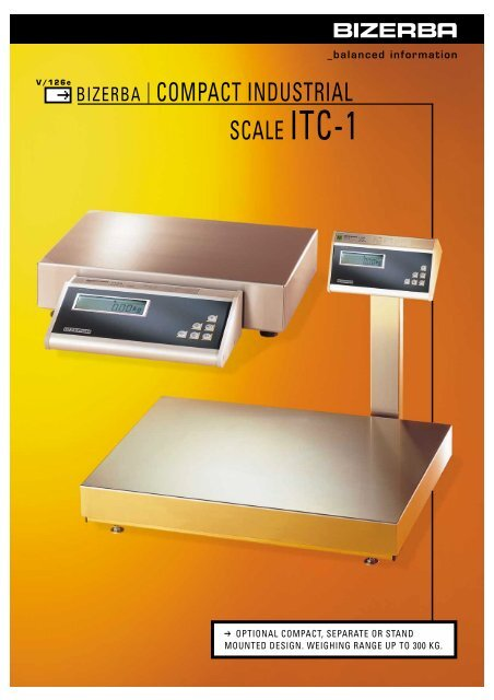 COMPACT INDUSTRIAL SCALE ITC-1