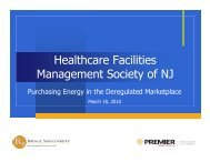 Purchasing Energy in the Deregulated Marketplace - the Healthcare ...