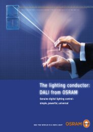The lighting conductor: DALI from OSRAM