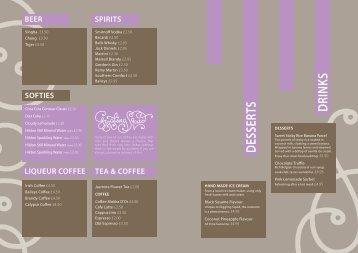 BEER SPIRITS SOFTIES LIQUEUR COFFEE TEA ... - Giggling Squid