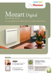 Radiateur à inertie Mozart Digital