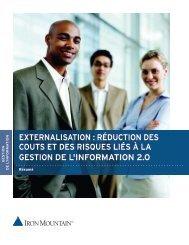 réduction des couts et des risques liés à la gestion de l'information 2.0