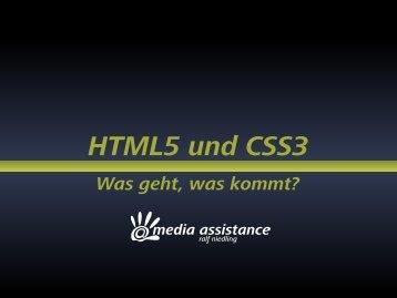 HTML5 und CSS3 - Was geht, was kommt? - webdevFulda