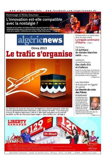 Fr-22-07-2013 - Algérie news quotidien national d'information