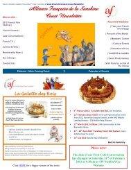 Alliance Française de la Sunshine Coast Newsletter