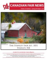 canadian fair news - Canadian Association of Fairs and Exhibitions