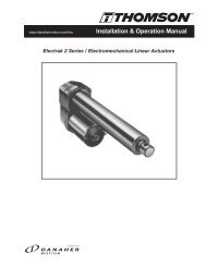 Electrak 2 Series / Electromechanical Linear Actuators - Thomson