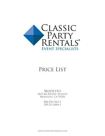 Price List - 6-28-12.indd - Classic Party Rentals