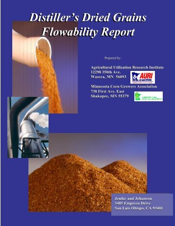 Distiller's Dried Grains Flowability Report Distiller's Dried ... - AURI
