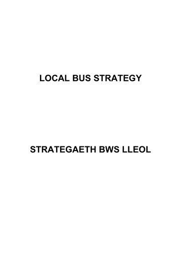 LOCAL BUS STRATEGY STRATEGAETH BWS LLEOL