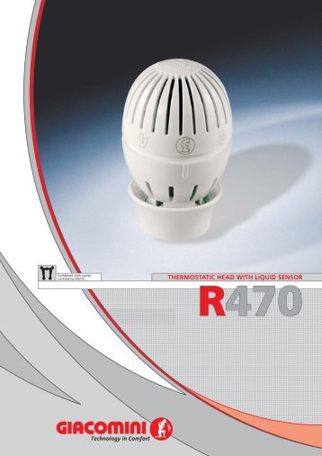 r470 thermostatic head with liquid sensor - Metacon.rs