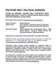 Vývoj územného a správneho členenia na Slovensku - Politické vedy