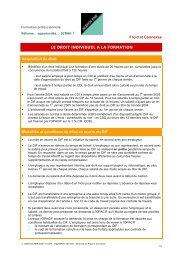Froid et Connexes LE DROIT INDIVIDUEL A LA ... - Agefos PME