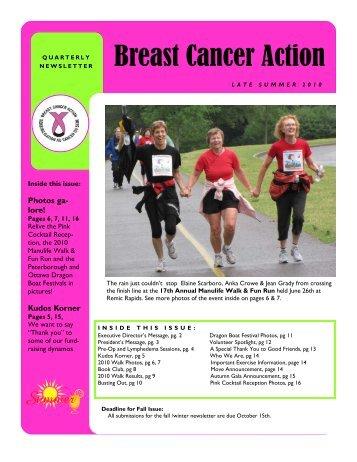 Summer 2010 - Breast Cancer Action Ottawa