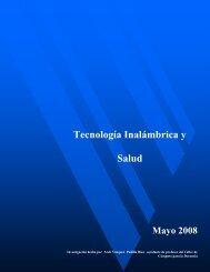 tecnologia inalambrica y la salud - División de Ciencias Básicas