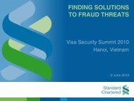 Finding solutions to fraud threats - Visa Asia Pacific
