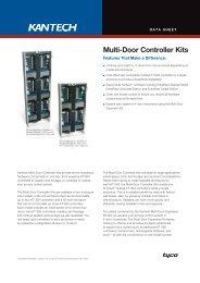 Multi-Dor Controller Kit Data Sheet - English A4 - Kantech