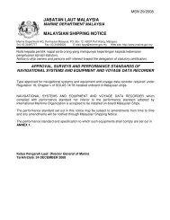 JABATAN LAUT MALAYSIA MALAYSIAN SHIPPING NOTICE
