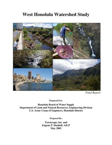 West Honolulu Watershed Study - Final Report - Prepared for