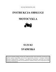 instrukcja obsługi motocykla sv650/sk4 - Suzuki Motor Poland