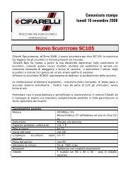 comunicato stampa.SC105 - Cifarelli SpA