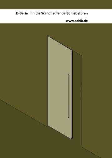 In der Wand laufende Schiebetür