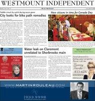June 30 - Westmount Independent