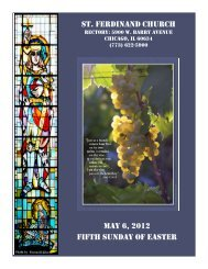 st. ferdinand church may 6, 2012 fifth sunday of easter - Parafia św ...