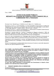 avviso selezione - Ordine dei Geologi della Lombardia