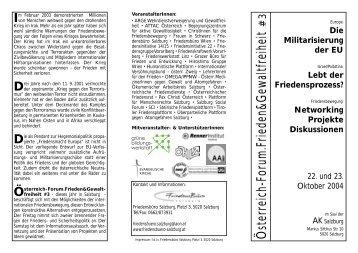 Österreich-Forum.Frieden&Gewaltfreiheit - Friedenswerkstatt Linz