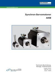 Synchron-Servomotoren AKM - BIBUS SK, sro