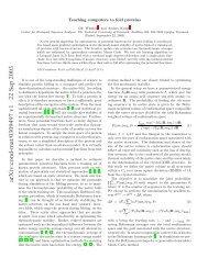 arXiv:cond-mat/0309497 v1 22 Sep 2003 - Bioinformatics Centre