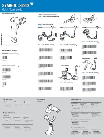 Symbol Spark Ls 1000 Scanner Series Barcode Scanners