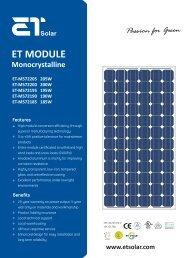 ET MODULE - www.solar-wind.co.uk